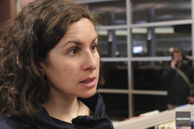 Marie-Amélie Boucher, professeure au Département des sciences appliquées... ((Photo Le Quotidien, Michel Tremblay))