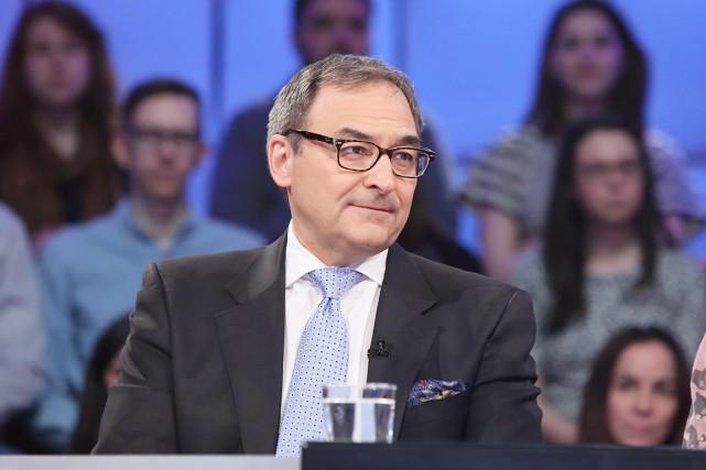 Le nouveau propriétaire du goupe Gesca, Martin Cauchon,... (Photo fournie par ICI Radio-Canada télé)