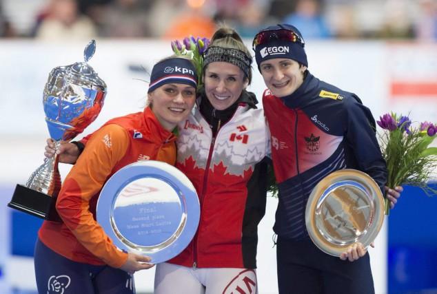 La patineuse de vitesse Ivanie Blondin a mis... (Associated Press)