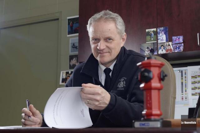 François Lelièvre, directeur du Service de sécurité incendie... (Photo: Sylvain Mayer, Le Nouvelliste)