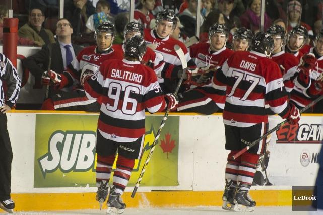 En écrasant les Wolves de Sudbury 6-0, la... (Martin Roy, LeDroit)