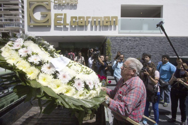 Pedro Aguayo Ramirezest tombé inconscient après avoir été... (PHOTO HECTOR GUERRERO, AFP)
