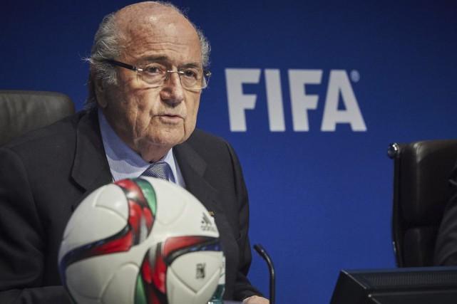 Le président de la FIFA,Sepp Blatter.... (Photo Michael Buholzer, AFP)