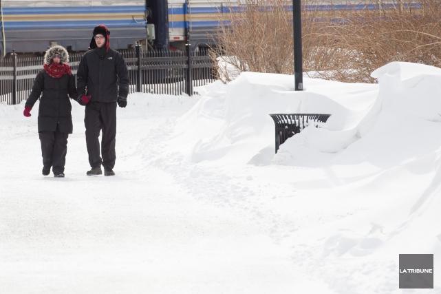 La neige et le froid sont encore bien... (Imacom, René Marquis)