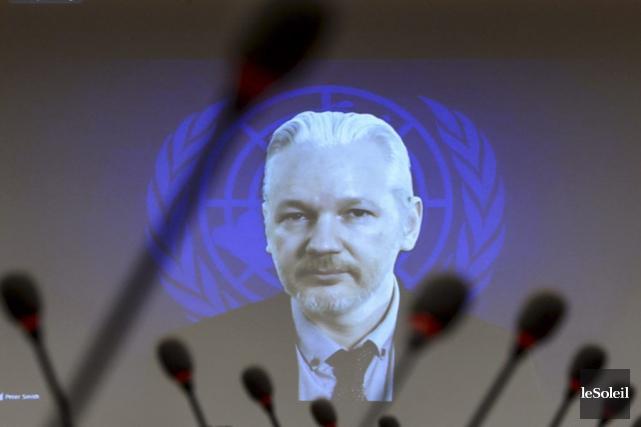 Julian Assange a participé à un événement en... (Photothèque Le Soleil)