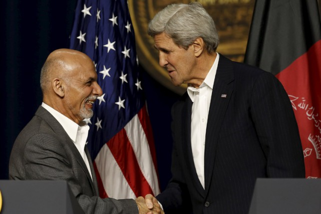 Ashraf Ghani a été l'invité de John Kerry... (Photo: Reuters)