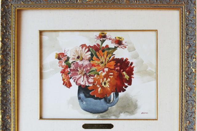 L'aquarelle a été peinte en 1912 par Adolf... (Photo: AFP)