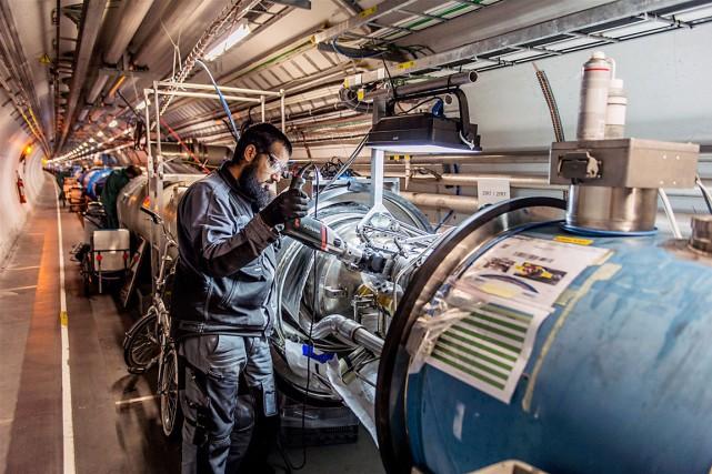 Au cours des deux années de pause du... (Photo fournie par le CERN)