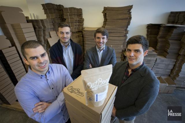 Les quatre fondateurs d'Oatbox, Jean-François Kabbani, Laurent Laferrière,... (PHOTO IVANOH DEMERS, LA PRESSE)