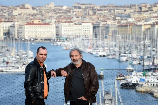 Le producteur Pascal Breton et le scénariste Dan... (PHOTO ANNE-CHRISTINE POUJOULAT, AFP)