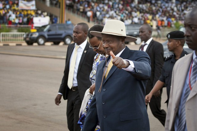 Le président ougandais Yoweri Museveni... (PHOTO ARCHIVES AP)