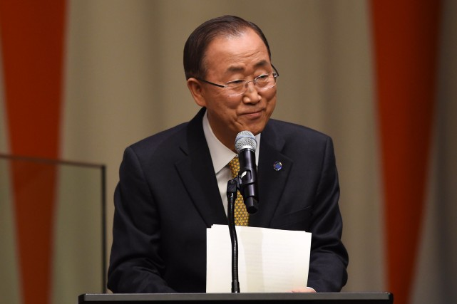 Le secrétaire général des Nations unies, Ban Ki-moon... (PHOTO DON EMMERT, ARCHIVES AFP)