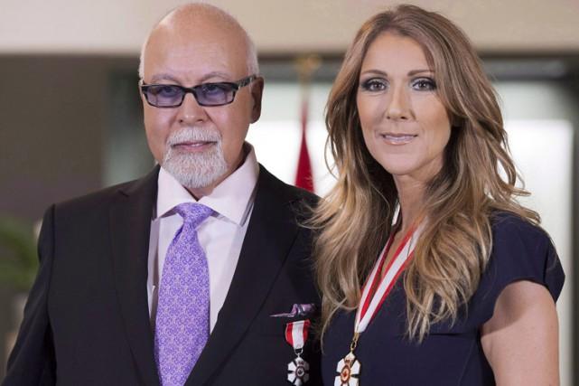 Céline Dion et René Angélil alors qu'ils recevaient... (Archives PC)