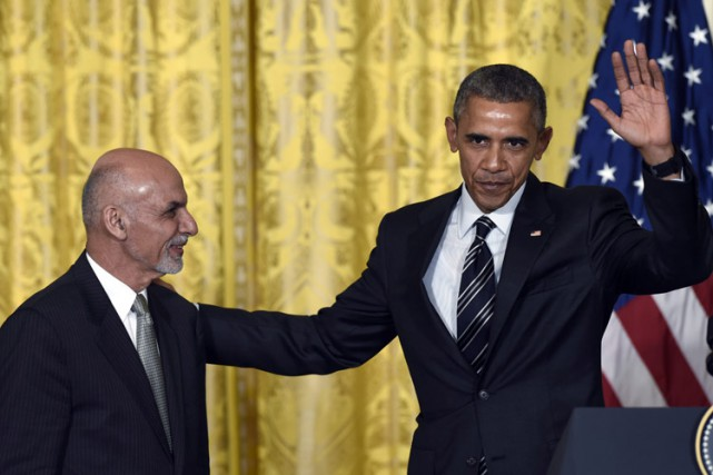 Barack Obama et son homologue afghan Ashraf Ghani... (Photo: AP)