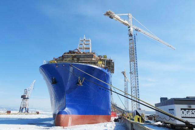 Les deux navires de la société norvégienne Cecon... (Photo fournie par Chantier Davie Canada)