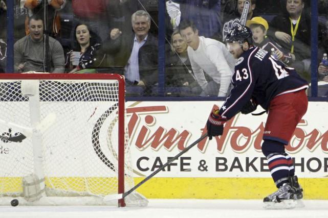 Scott Hartnell a réalisé le huitième tour du chapeau de sa carrière, et les... (Photo: AP)