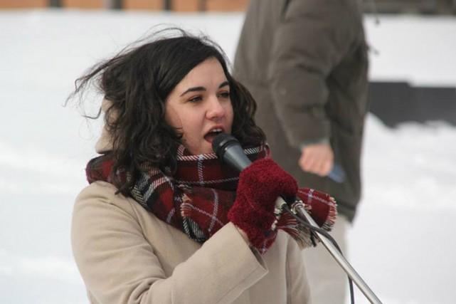 Camille Godbout, présidente de l'Association pour une solidarité... (PHOTO TIRÉE DE TWITTER)