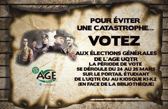 Le comité électoral de l'AGE UQTR a créé...