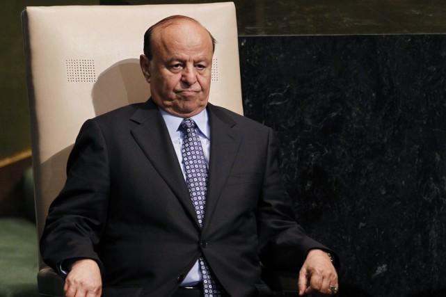 Le président Abd Rabo Mansour Hadi.... (PHOTO JASON DECROW, ARCHIVES AP)