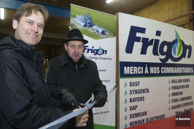 L'inauguration du nouveau centre d'engrais Frigon a été... (Photo: Stéphane Lessard Le Nouvelliste)