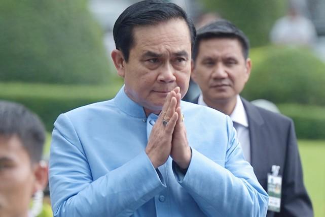Le général Prayut Chan-O-Cha, meneur du coup d'État... (PHOTO PORNCHAI KITTIWONGSAKUL, ARCHIVES AFP)