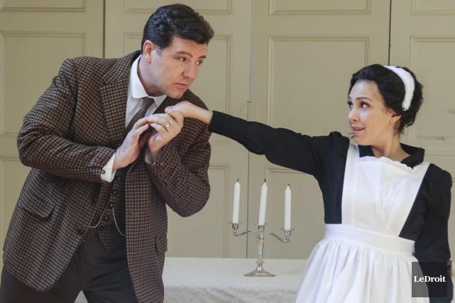 Le conte (James Westman) et Susanna (Sasha Dijanian)... (Patrick Woodbury, LeDroit)
