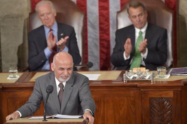 Le président afghan, Ashraf Ghani, a remercié à... (PHOTO NICHOLAS KAMM, AFP)