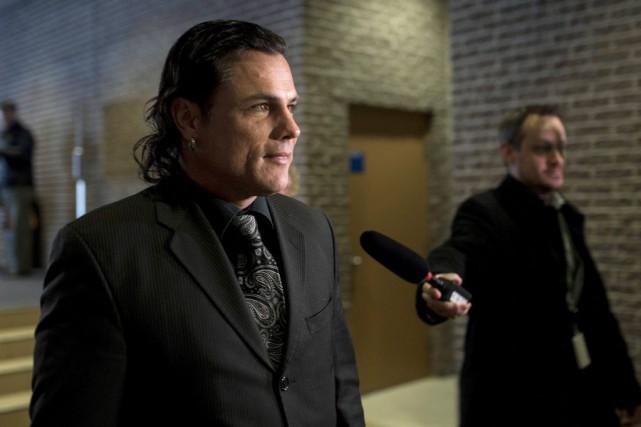 Patrick Brazeau au palais de justice de Gatineau.... (La Presse Canadienne)
