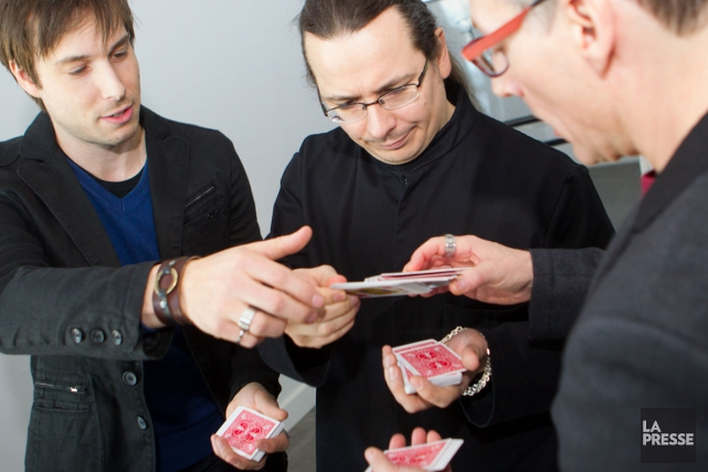 Luc Langevin, Mathieu Bich et Stéphane Bourgoin en... (PHOTO La Presse, OLIVIER PONTBRIAND)