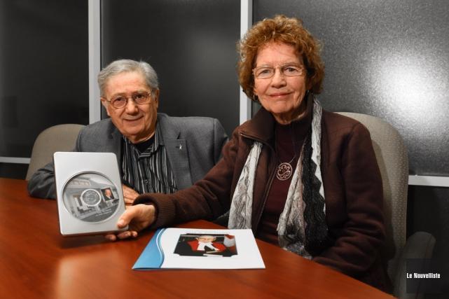 Michel Virard, directeur de Immortels.ca et Andréa Richard,... (Photo: François Gervais, Le Nouvelliste)