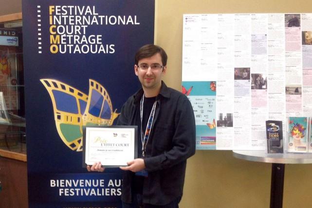 Alexandre Desjardins a reçu le Prix Effet Court,... (Courtoisie)