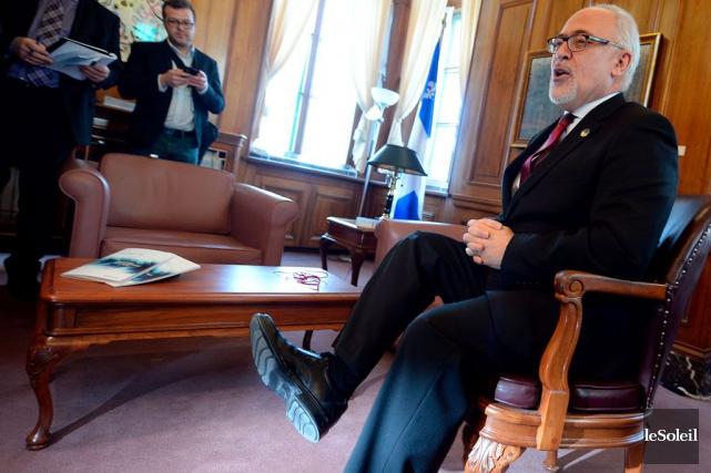 Le ministre des Finances, Carlos Leitão, a rencontré... (Le Soleil, Erick Labbé)