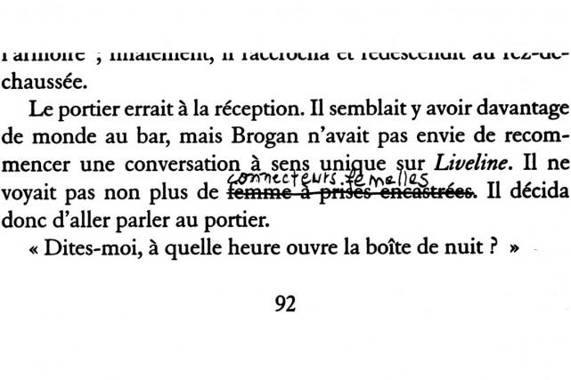 Voici une traduction plutôt douteuse dénichée par le Sherbrookois André...
