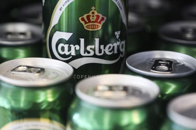 Les quatre principaux brasseurs européens --Carlsberg, Heineken, AB... (Photo Chris Ratcliffe, archives Bloomberg)