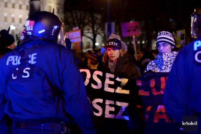 Manifestation contre l'austérité à Québec... (Le Soleil, Erick Labbé)