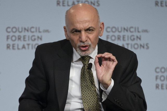 Le président afghan, Ashraf Ghani... (Photo John Minchillo, AP)