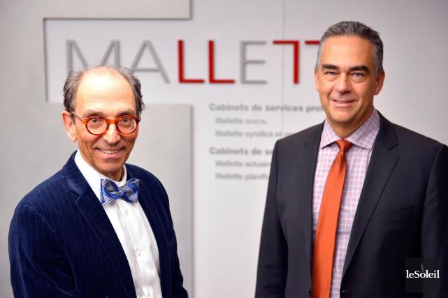 Chez Mallette Québec, Robert Fortier (à gauche), associé... (Le Soleil, Yan Doublet)