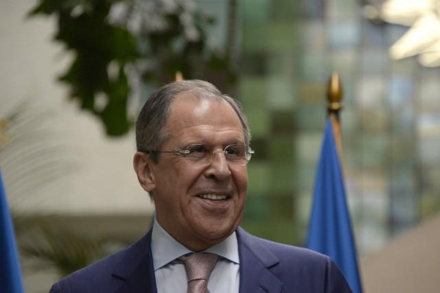 Le ministre russe des Affaires étrangères, Sergueï Lavrov... (PHOTO  JOHAN ORDONEZ, AFP)