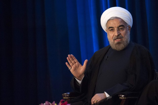 À ses interlocuteurs au téléphone, Hassan Rohani a... (PHOTO ARCHIVES REUTERS)