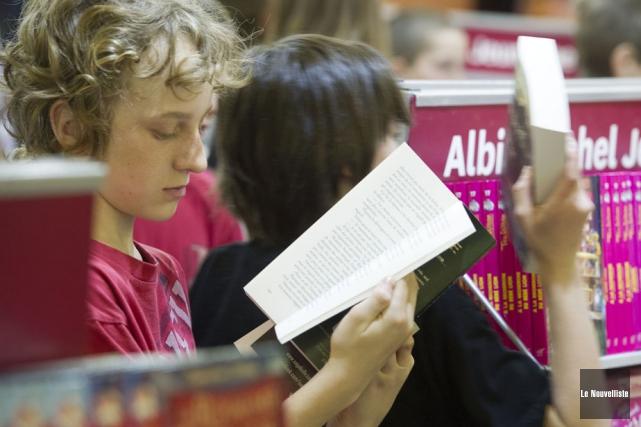 Les jeunes ont osé la parole, jeudi, en... (Photo: Stéphane Lessard, Le Nouvelliste)