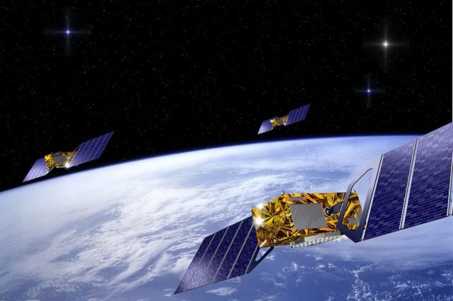 Opérant à plus haute altitude que le GPS,... (PHOTO IMAGE AFP/ESA/J.HUART)