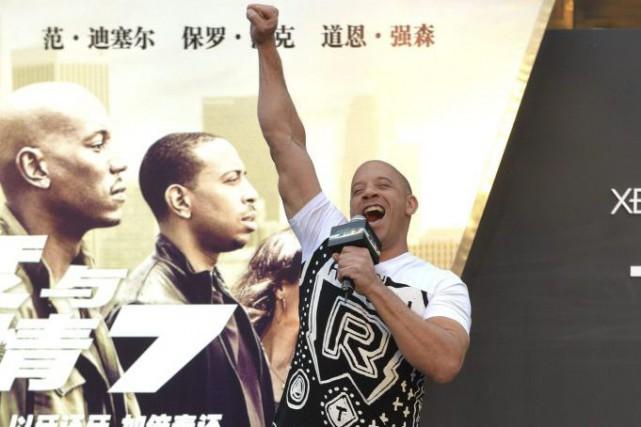 Vin Diesel fait la promotion du film Furious... (Photo: AP)