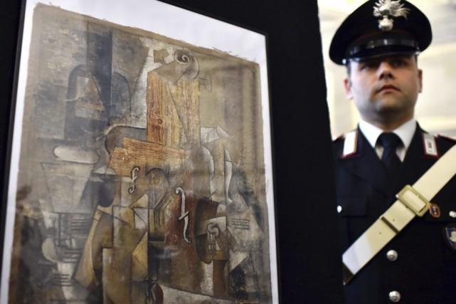 La police italienne a mis la main sur un tableau de Picasso, d'une valeur de 15... (Photo: AFP)
