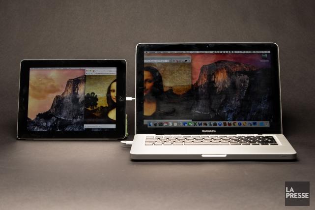 Besoin d'un deuxième moniteur pour votre ordinateur? À moins de 20$, tout... (Photo Simon Giroux, La Presse)