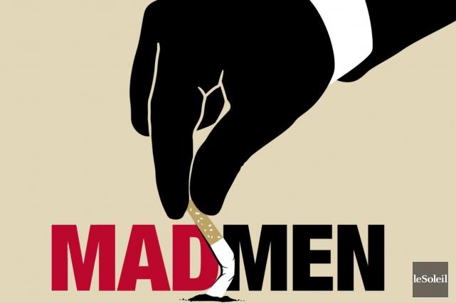 Mad Menest avant tout la chronique d'une Amérique... (Illustration Le Soleil, Pascale Chayer)