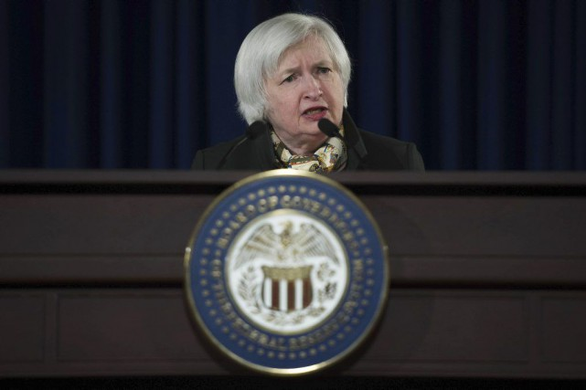 La présidente de la Fed, Janet Yellen.... (PHOTO JIM WATSON, ARCHIVES AFP)