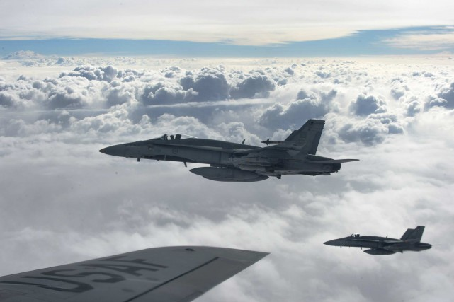 L'auteur dénonce la participation du Canada à la... (Photo archives Reuters/U.S. Air Force)