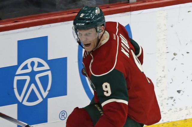 Mikko Koivu a été l'un des deux marquers... (PHOTO JIM MONE, AP)