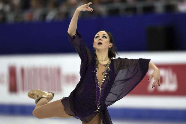 ElizavetaTuktamysheva a brillé toute cette saison, avec une... (PHOTO JOHANNES EISELE, AFP)