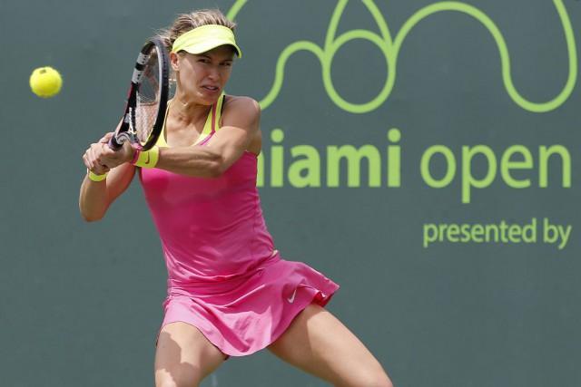 Finaliste à Wimbledon l'an dernier, la Québécoise affiche... (PHOTO GEOFF BURKE, USA TODAY)